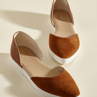 Great Sport System Suede Flat in Gingersnap | Mod Retro Vintage Flats | ModCloth.com