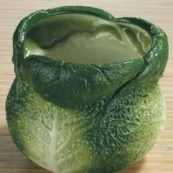 Savoy Cabbage Ceramic Utensil Holder - 8615