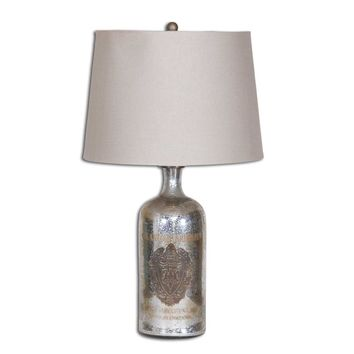 Borel Antique Glass Table Lamp By Uttermost