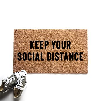 Keep Your Social Distance Doormat
