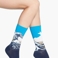 Hot Sox 'Great Wave' Crew Socks