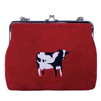 Velvet Crossbody Bag | Cow