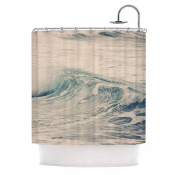 "Sylvia Coomes ""Waves 1"" Blue Coastal Shower Curtain"