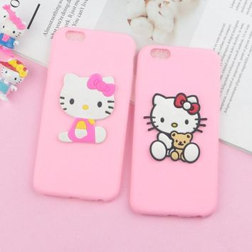 Lovely Hello Kitty Cat Case for iPhone XR XS Max Cases Soft Cute Cartoon Phone Cover for iPhone 6s 6 5 5s 7 8 X 4 4s SE