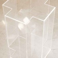 Acrylic Cross Side Table