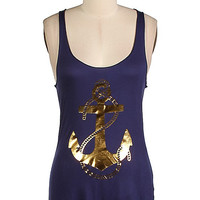 Hope Anchors the Soul Tank - Navy
