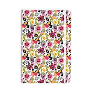 "Carolyn Greifeld ""Pretty Florals"" Pink Yellow Everything Notebook"