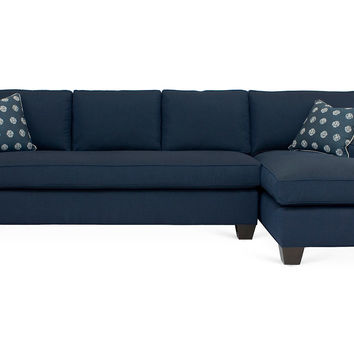 Tribeca Right-Facing Sectional, Indigo, Acrylic / Lucite, Sectionals
