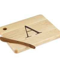 Monogram Cheese Board & Spreader