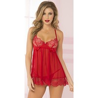 Delicate and Sultry Holiday Baby Doll