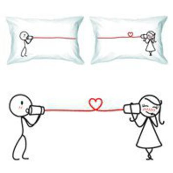Gift Idea: Say I Love You - Couple's Pillowcase Set