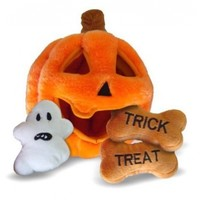 Hide a Toy Pumpkin Puzzle Plush Interactive Dog Toy