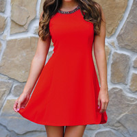 You're My Sweetheart Dress: Red | Hope's