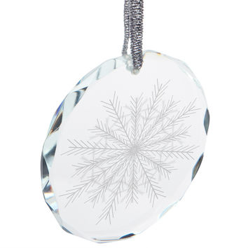Snowflake Round Crystal Ornament