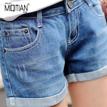 Demin shorts 2016 summer board shorts women plus size shorts jeans denim fashion a shorts feminino female large size xxl 3xl 4xl