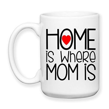 Coffee Mug, 15 oz, by Groovy Giftables - Home Is Where Mom Is 001