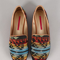 Sophie-4A Tribal Round Toe Loafer Flat