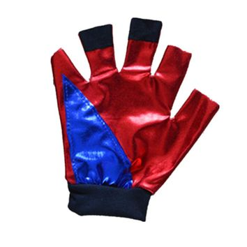 New Girls Kids Suicide Squad Harley Quinn Gloves JOKER cosplay Costume Outfit Set halloween children gift jacket costumes