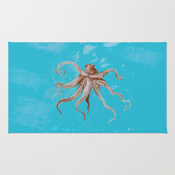Wild Wonderful Octopus Area & Throw Rug by Robin Maria Pedrero