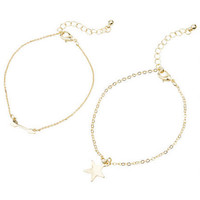 Star/Arrow Bracelet Set - Multi