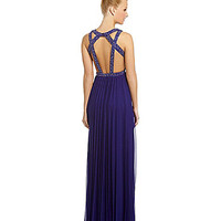 Jodi Kristopher Sleeveless Beaded Gown | Dillards.com