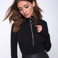 Molaka High Neck Bodice in Black by Motel