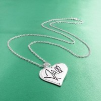 One Direction 'Niall Signature' Heart Necklace