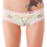 Private Arts Cow Skull Shimmer Undie Multi