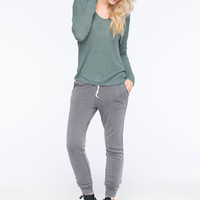 FULL TILT Essential Long Sleeve Womens Ribbed Tee | Essentials