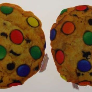 Lot 2 Chocolate Chip Cookie Candy Pillow Food Fight Soft Throw Realistic Toy NEW