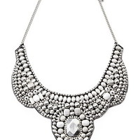 Beaded Statement Bib Necklace