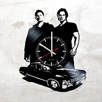 HANDMADE Vinyl Record Wall Clock with Horror Movie Design - Get unique room wall decor - Gift ideas for boys, girls and women - Movie Items Unique Art - Leave us a feedback and win your custom clock