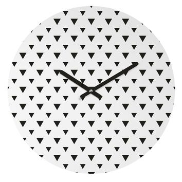 Allyson Johnson Upside Down Triangles Round Clock