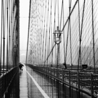 Brooklyn Bridge on Rainy Day Photographic Print by Rachel Royse at eu.art.com