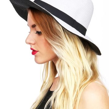 High Contrast Straw Hat