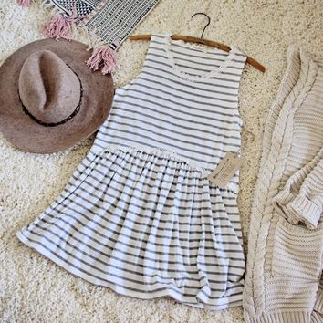 Sweet Stripe Layering Tank in Gray