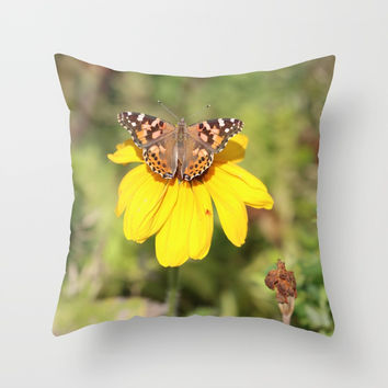 Autumn Butterfly Colors Throw Pillow by Theresa Campbell D'August Art