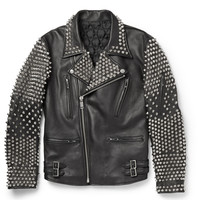 Blackmeans - Studded Leather Biker Jacket