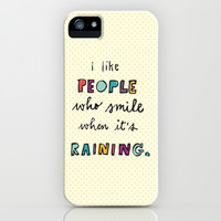 when it's raining iPhone & iPod Case by Riga Sutherland