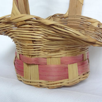 Easter basket vintage wicker basket decoration