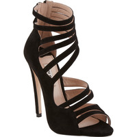 Asymmetric Strappy Sandals