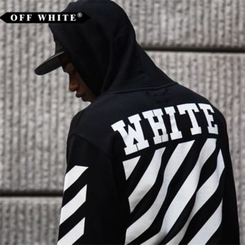 AUGUAU Off-White Black/White Off Hoodie