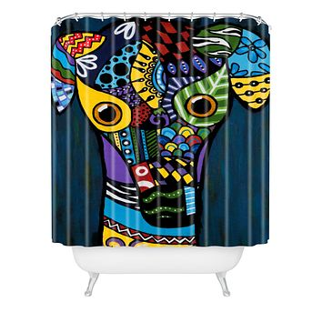 Lara Kulpa Greyhound Shower Curtain