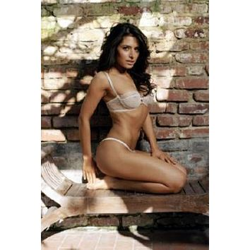 Sarah Shahi poster Metal Sign Wall Art 8in x 12in