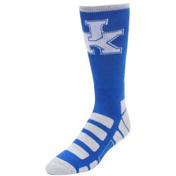KENTUCKY WILDCATS PATCHES QUARTER LENGTH SOCKS SIZE LARGE NEW FOR BARE FEET