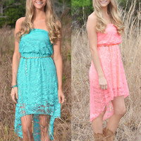 Western Lace Hi Low country girl dress