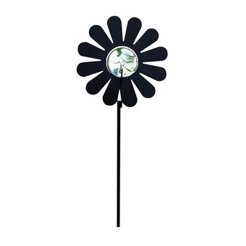 Wrought Iron Marble Flower Garden Stake 38 In