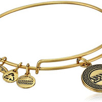 "Alex and Ani ""Sorority"" Sigma Expandable Rafaelian Gold Finish Wire Bangle Bracelet"