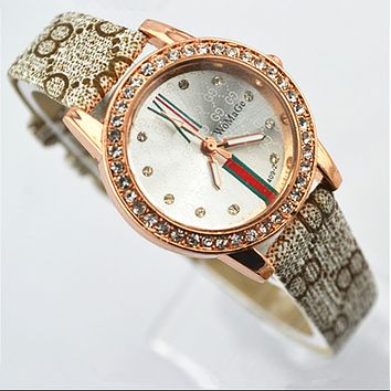 GUCCI fashion compact compact ladies' watch