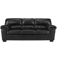 Commando Sofa in Black Leather